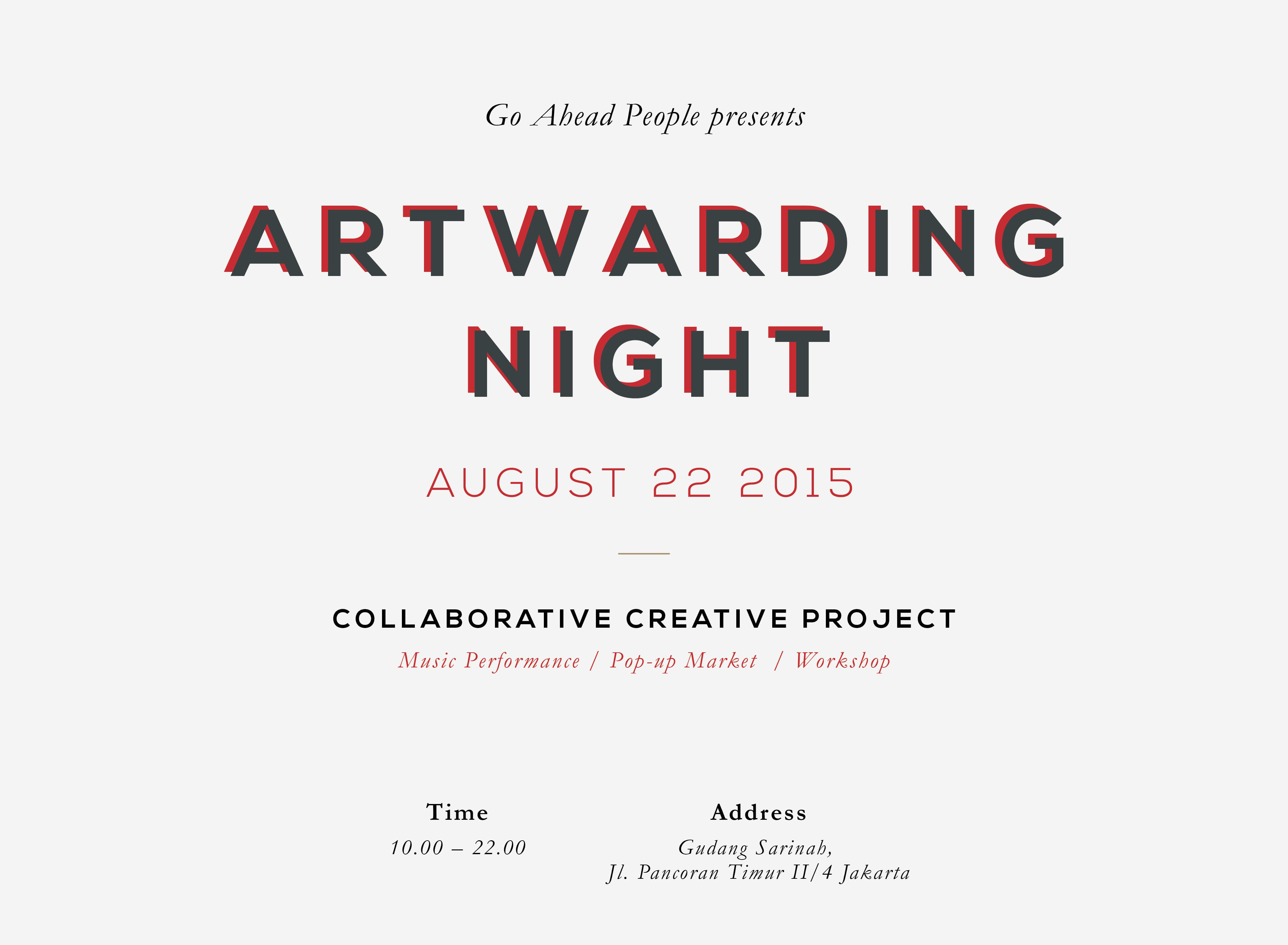 Go Ahead Challenge Artwarding Night