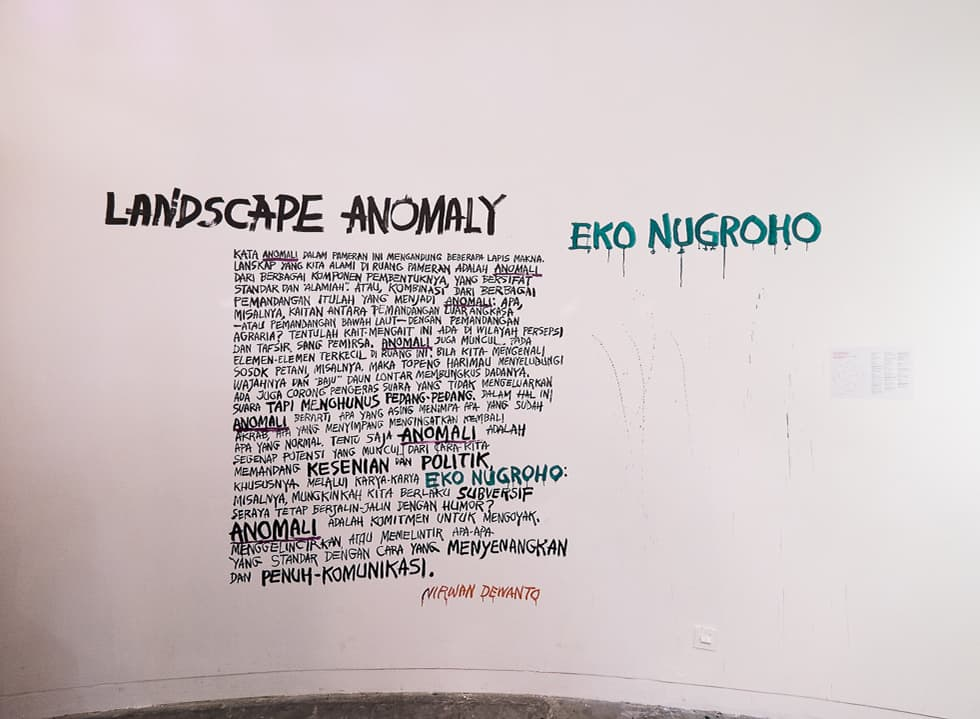 A Preview to Landscape Anomaly by Eko Nugroho