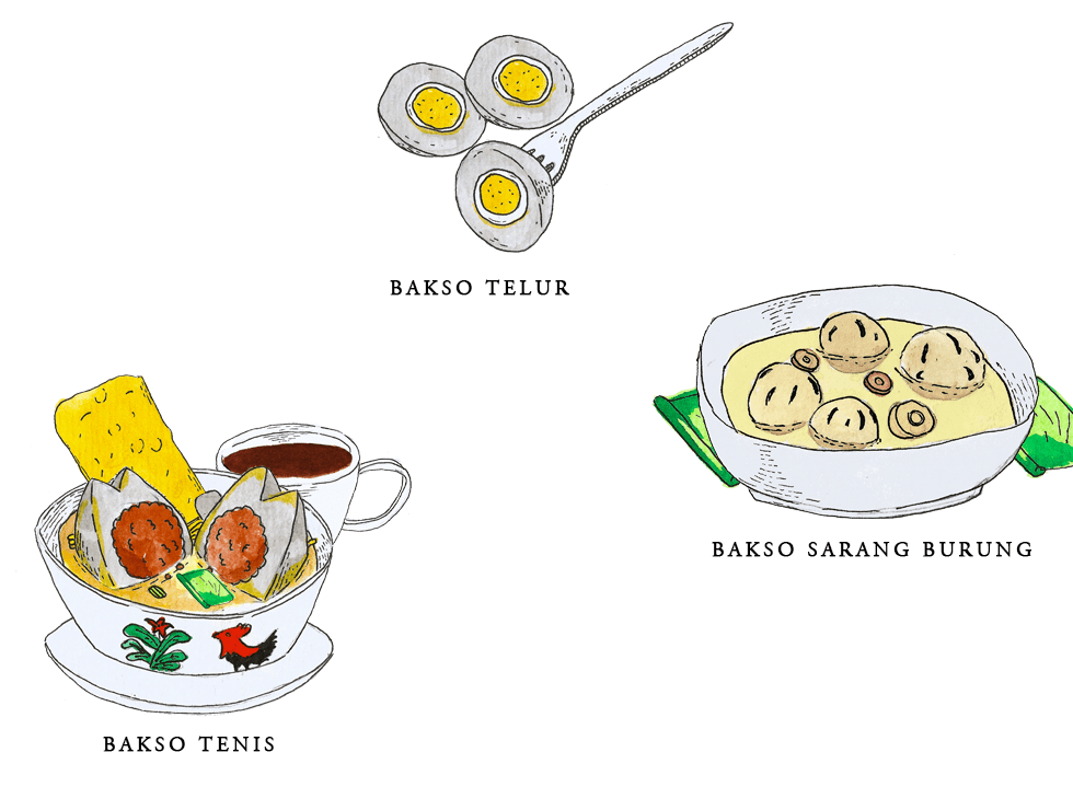 Manual Infographic: Types of Bakso